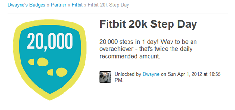 Fitbit 20K Badge
